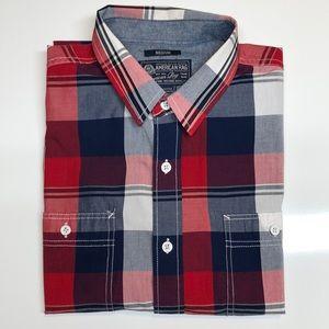 American Rag Plaid Button Down Shirt